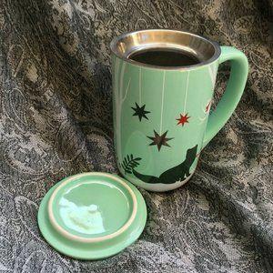 David's Tea Fox Forest Nordic Mug Cup Lid Infuser